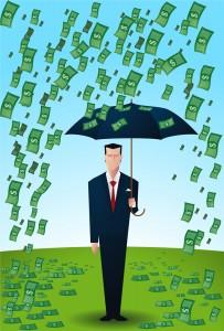 it's raining money